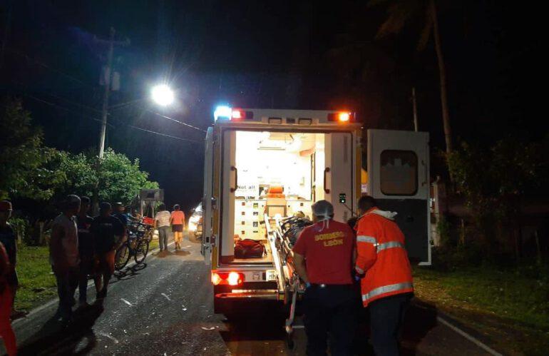 Einsatz des Rettungswagen in León