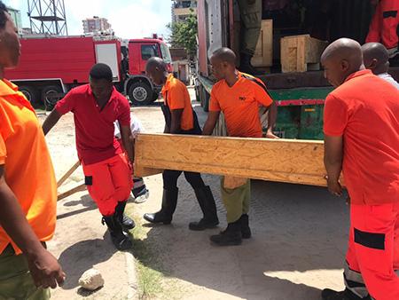 Container in Dar es Salaam eingetroffen